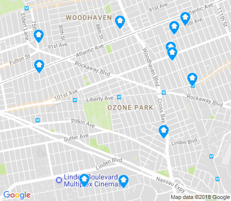 map of Ozone Park apartments for rent