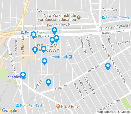 map of Pelham Parkway apartments for rent