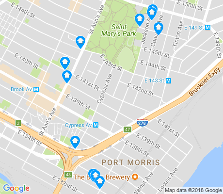 map of Port Morris apartments for rent