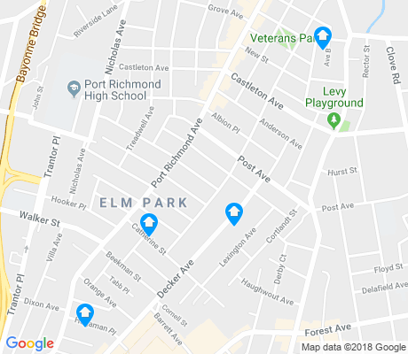 map of Port Richmond apartments for rent