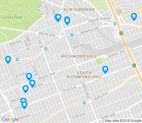 map of Richmond Hill apartments for rent