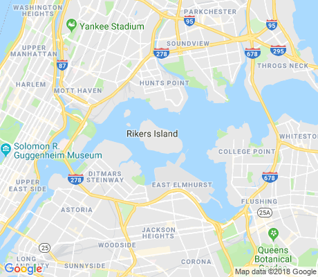 map of Rikers Island apartments for rent