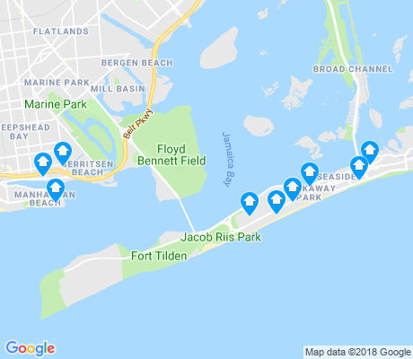 map of Rockaway Beach apartments for rent