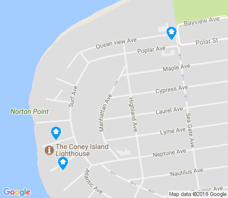 map of Sea Gate apartments for rent