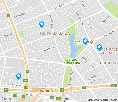 map of South Jamaica apartments for rent