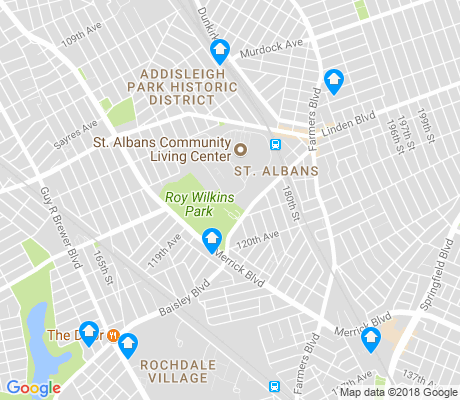 map of St. Albans apartments for rent