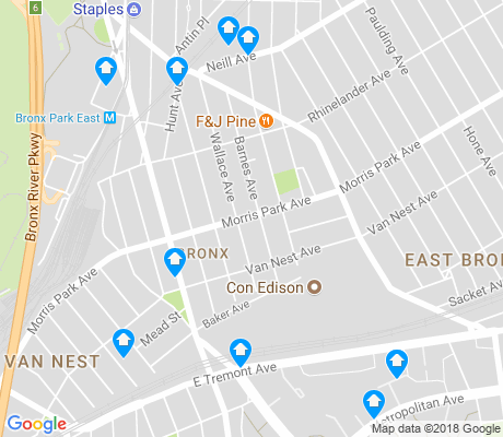 map of Van Nest apartments for rent