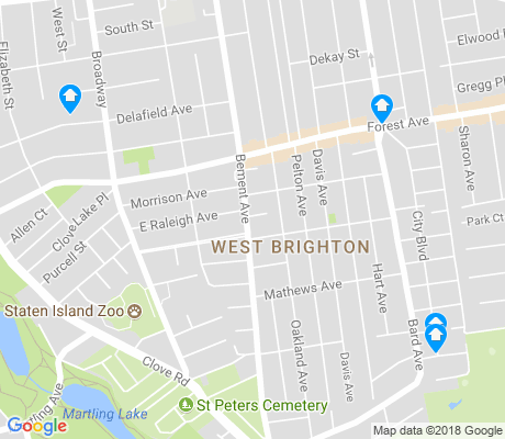 map of West Brighton apartments for rent