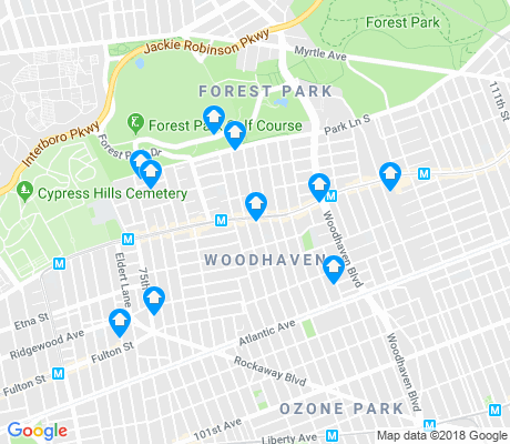 map of Woodhaven apartments for rent
