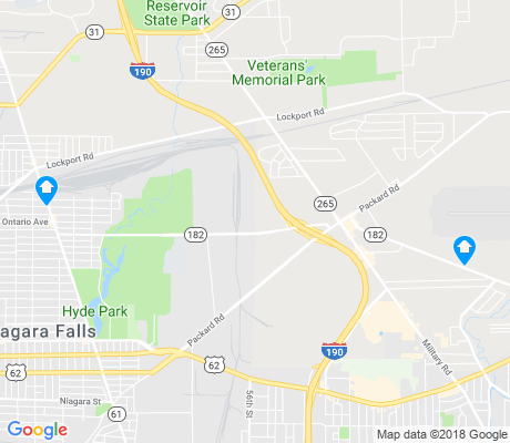 map of Niagara Falls apartments for rent