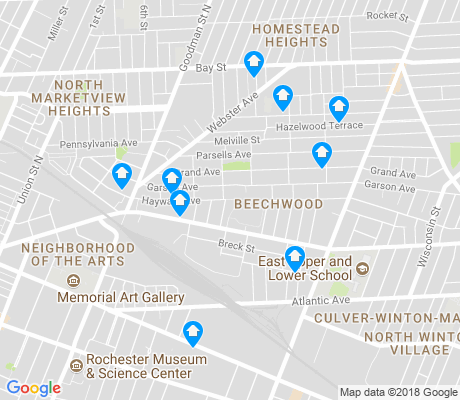 map of Beechwood apartments for rent