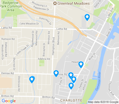 map of Charlotte apartments for rent