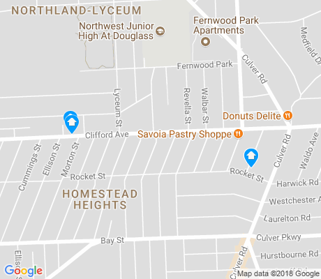 map of Homestead Heights apartments for rent