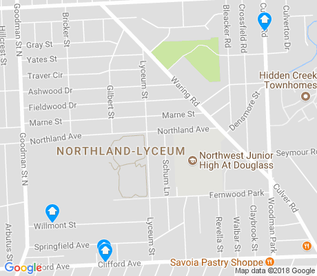 map of Northland-Lyceum apartments for rent