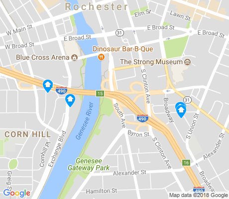 map of South Wedge apartments for rent