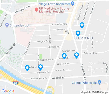 map of Strong apartments for rent