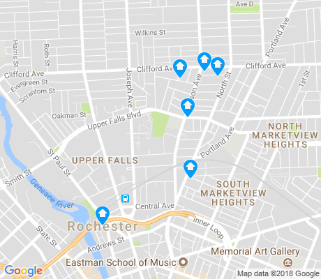 map of Upper Falls apartments for rent