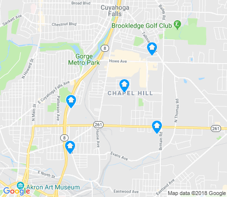 map of Chapel Hill apartments for rent