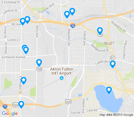map of Ellet apartments for rent
