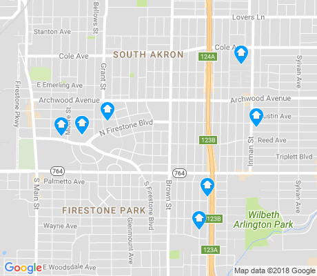 map of Firestone Park apartments for rent