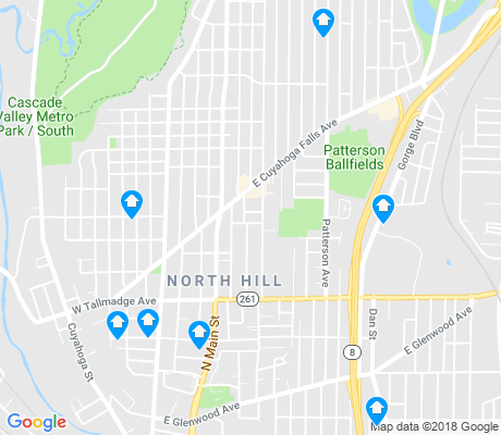 map of North Hill apartments for rent