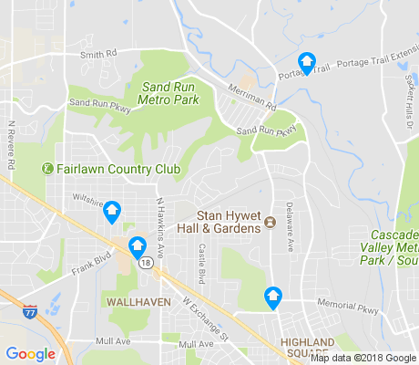 map of Northwest Akron apartments for rent
