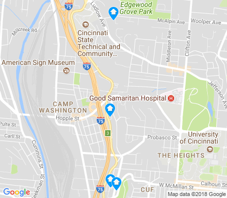map of Camp Washington apartments for rent