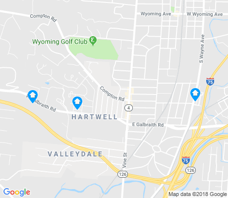 map of Hartwell apartments for rent