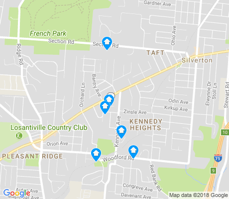 map of Kennedy Heights apartments for rent
