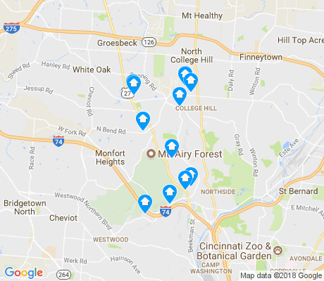 map of Mount Airy apartments for rent