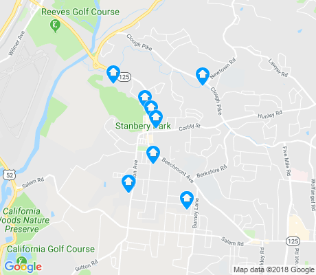 map of Mount Washington apartments for rent