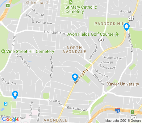 map of North Avondale apartments for rent