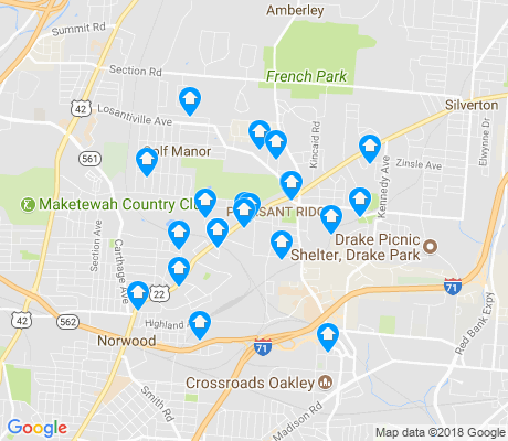 map of Pleasant Ridge apartments for rent