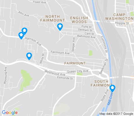 map of South Fairmont apartments for rent