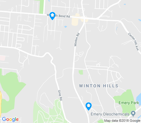 map of Winton Hills apartments for rent