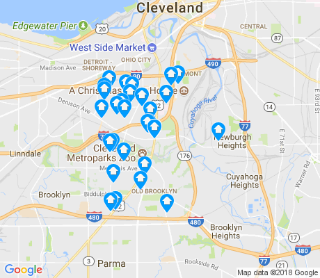 map of 44109 apartments for rent