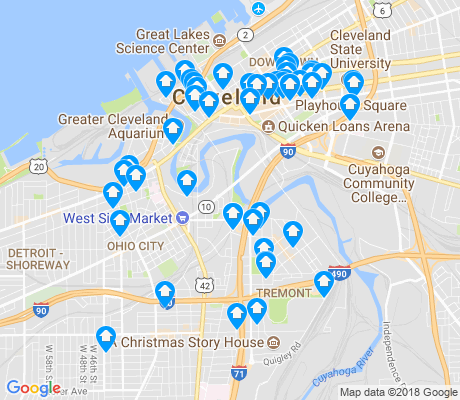 map of 44113 apartments for rent
