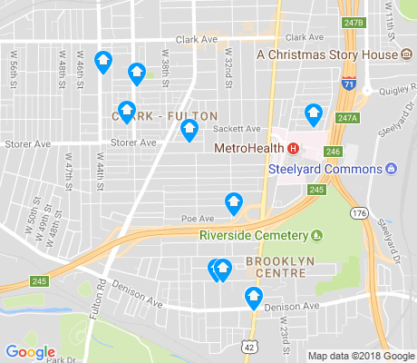 map of Brooklyn - Centre apartments for rent