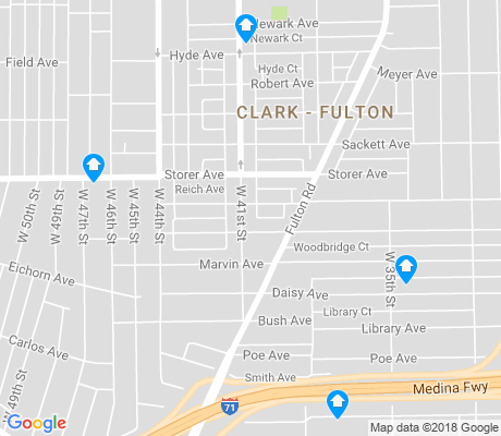 map of Clark - Fulton apartments for rent