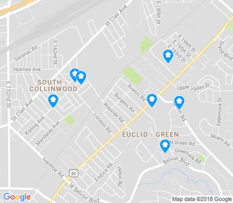 map of Euclid - Green apartments for rent
