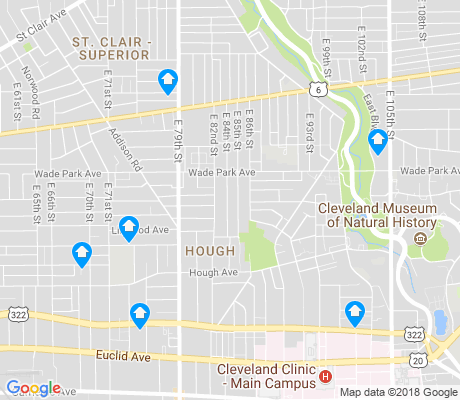 map of Hough apartments for rent