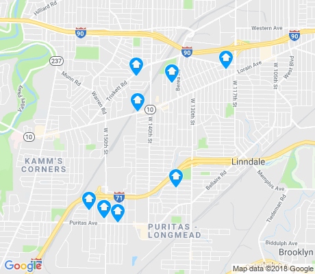 map of Jefferson apartments for rent