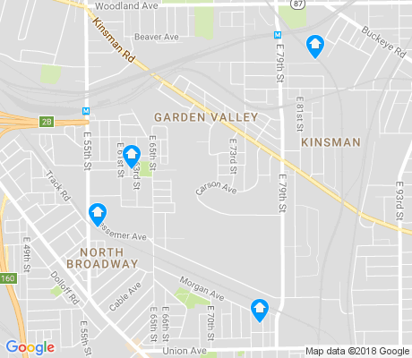 map of Kinsman apartments for rent