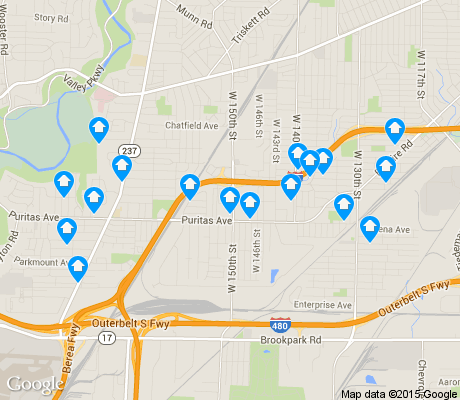 map of Puritas-Longmead apartments for rent