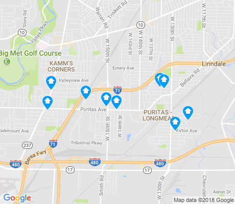 map of Puritas - Longmead apartments for rent