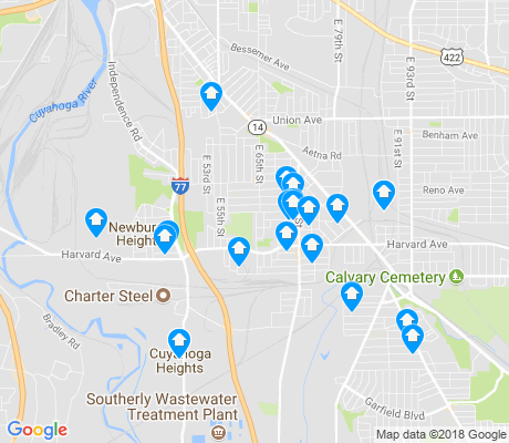 map of South Broadway apartments for rent