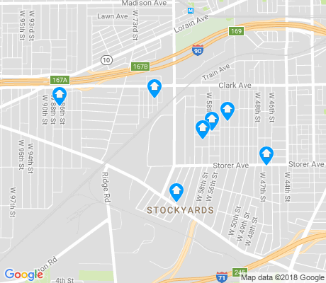 map of Stockyards apartments for rent