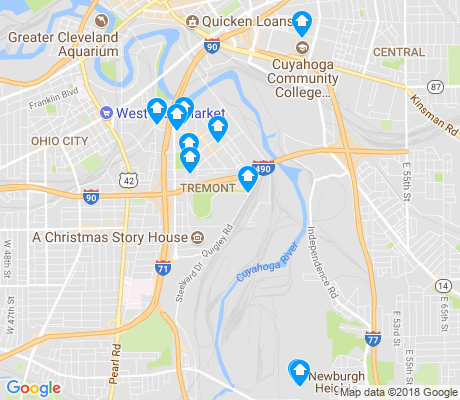 map of Tremont apartments for rent