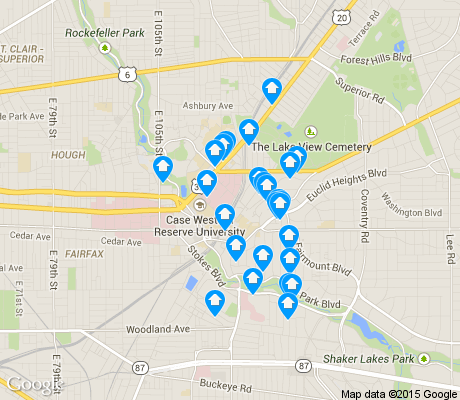 map of University District apartments for rent