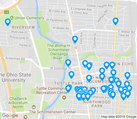 map of 43202 apartments for rent
